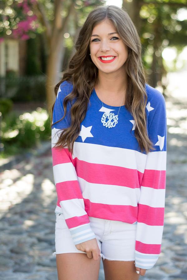 American Flag Sweatshirt From Nordstrom | Chasing Cinderella