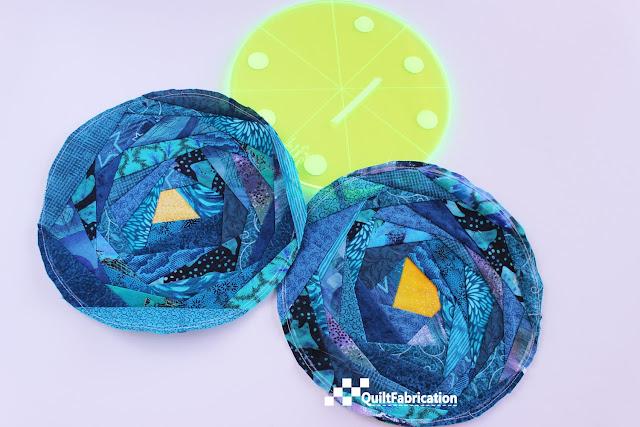 aqua fabric circles