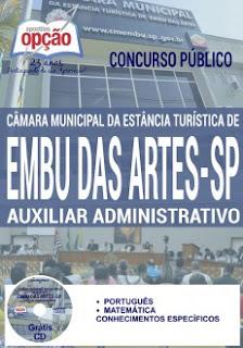 Apostila Concurso Câmara de Embu das Artes 2016 Auxiliar Administrativo.