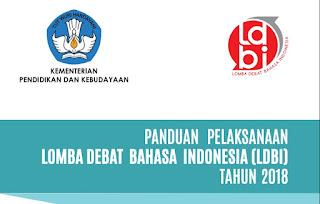 Panduan Lomba Debat Bahasa Indonesia (LDBI) SMA 2018