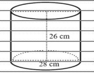 Menghitung luas permukaan tabung