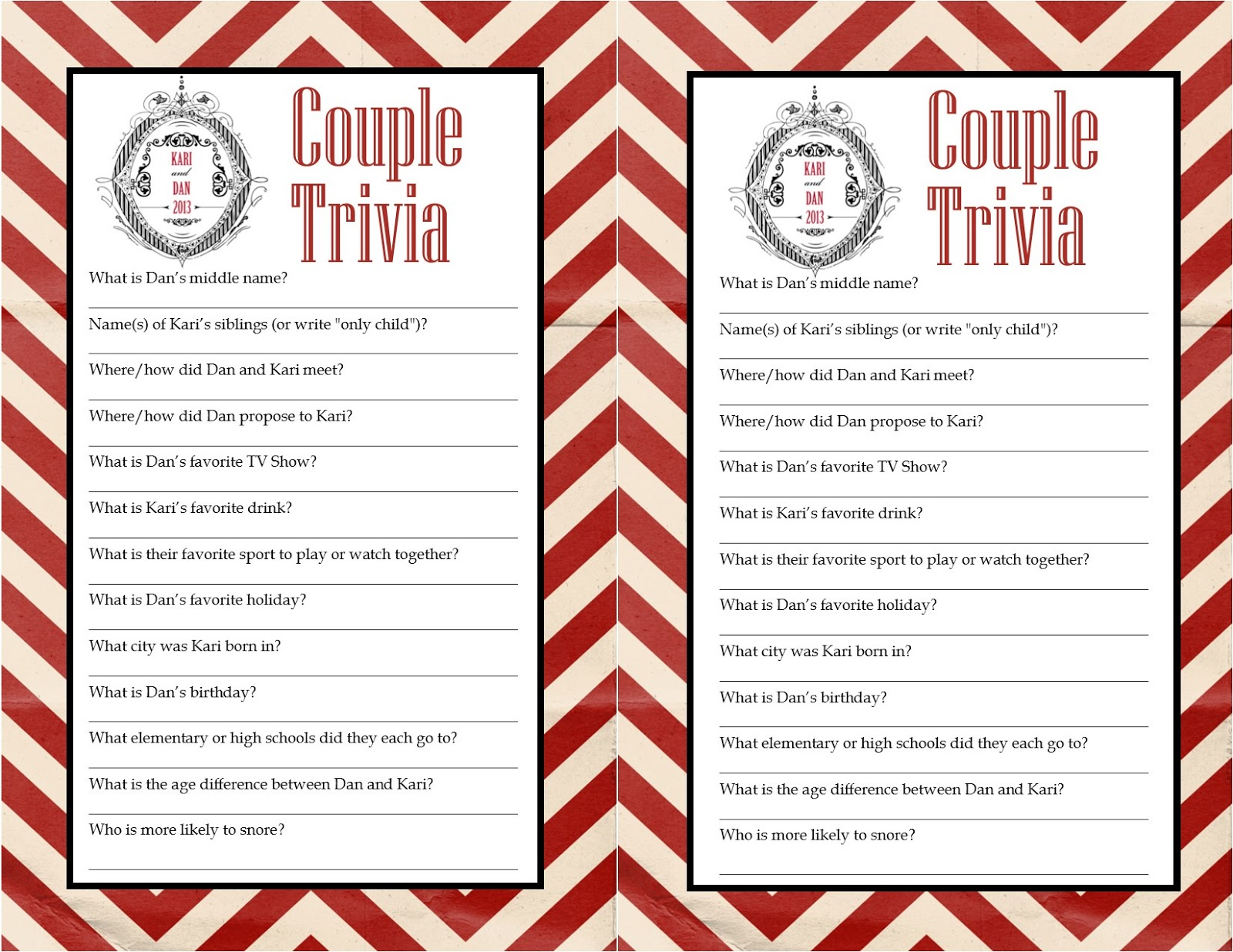 Wedding Trivia Questions For Guests Midway Media