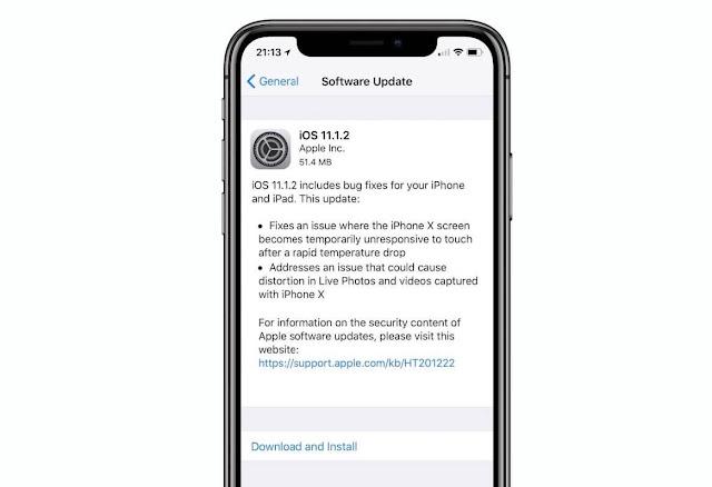 ابل تطلق iOS 11.1.2 مع عدة اصلاحات [روابط مباشرة IPSW]