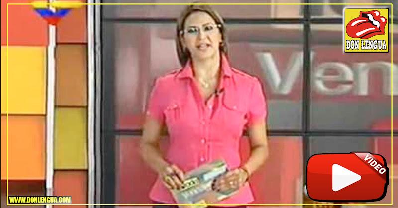 La periodista chavista Dahir Ral recibió su dosis de patria cuando fue detenida en Vargas