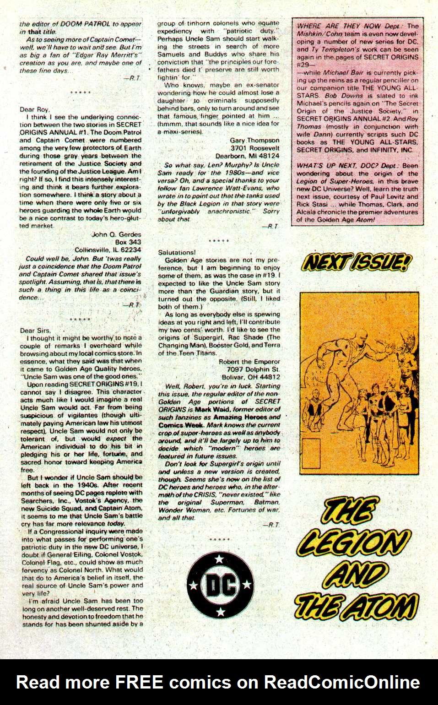 Read online Secret Origins (1986) comic -  Issue #24 - 41