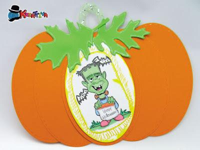 Zucca decorativa di carta per Halloween