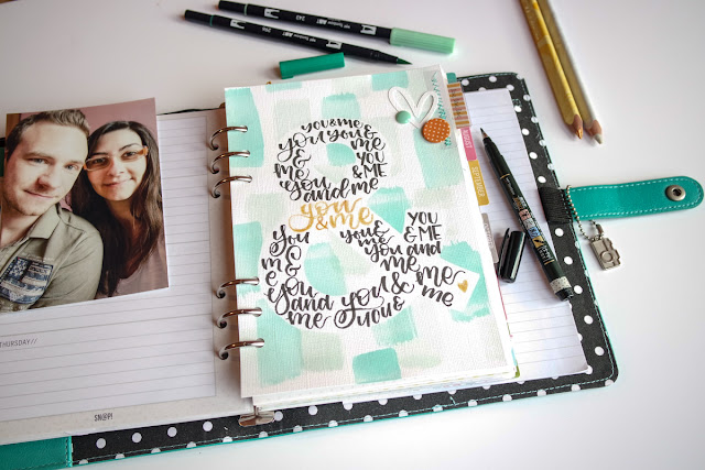 "koh-i-noor | inserto planner ""you and me"" con tombow dual brush e fudenosuke www.kkushi.com"