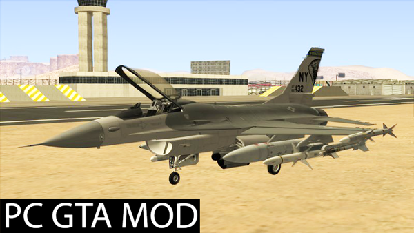 Free Download F-16C Fighting Falcon  Mod for GTA San Andreas.