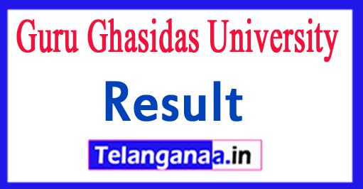 Guru Ghasidas University Results 2018