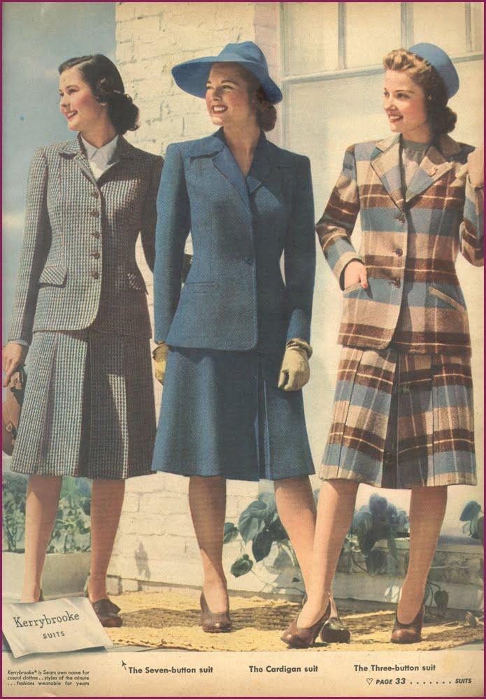 1940s Fashion What Did Women Wear In The 1940s: ~ Raleigh Vintage ~: 1940s Campus Suits For Women