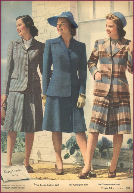 Fashion Flashback Wwii Women S Fashion: ~ Raleigh Vintage ~: 1940s Campus Suits For Women