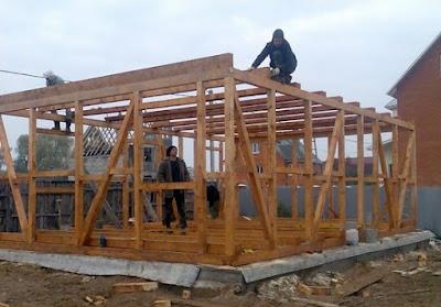 Фото строительства каркасных домов своими руками