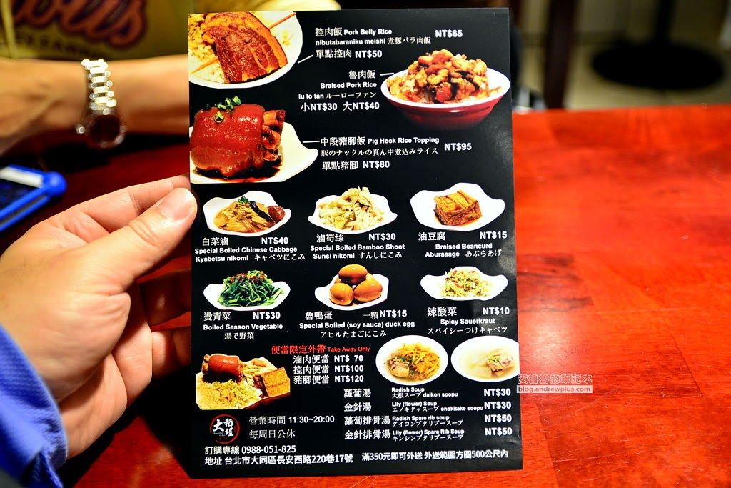 大稻埕魯肉飯,華陰街商圈小吃,台北後站小吃,滷肉飯,控肉飯,便當