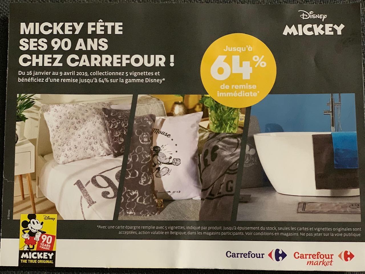 Mickey Fête Ses 90 Ans Chez Carrefour Un Kilo Di Ricette