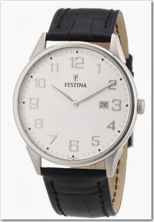 3f6245d2b1f4 Festina F16518 2 - Reloj analógico de cuarzo para hombre con correa de piel
