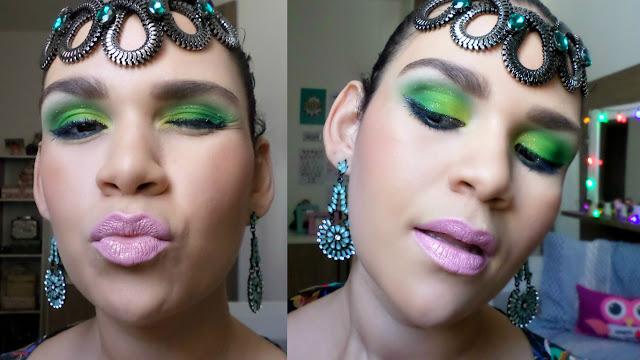 Maquiagem para o Carnaval verde e amarelo