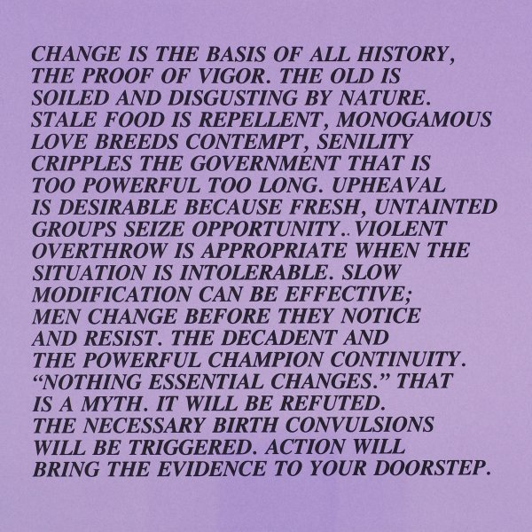 truisms in addition to inflammatory works by way of jenny holzer artist