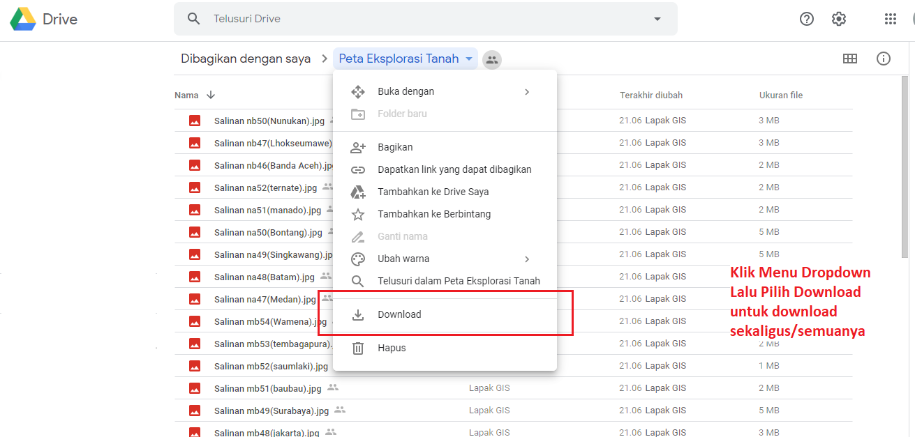 tutorial download lapakgis
