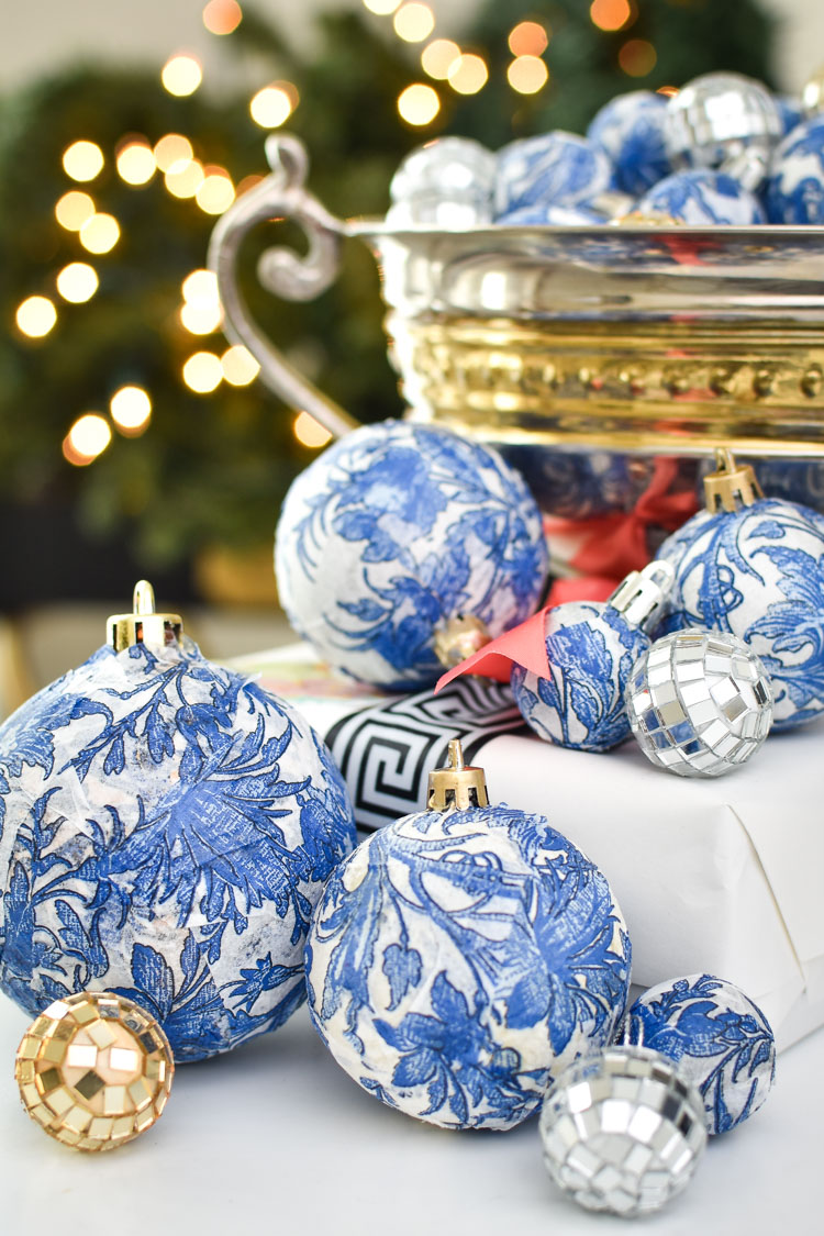 DIY Dollar Store Blue & White Chinoiserie Ornaments ...