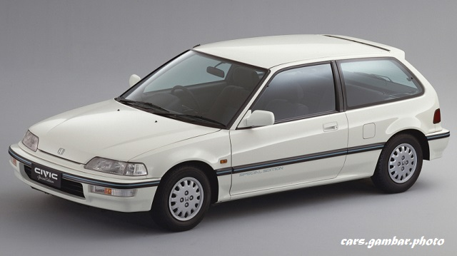 1990 Honda Civic 4th Gen 3-door Hatchback (EF) Special Edition White
