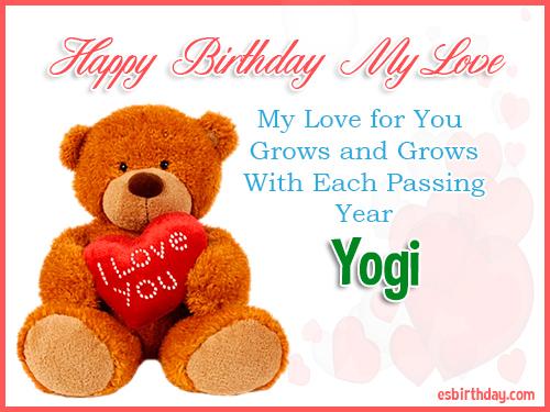 Yogi Happy Birthday My Love