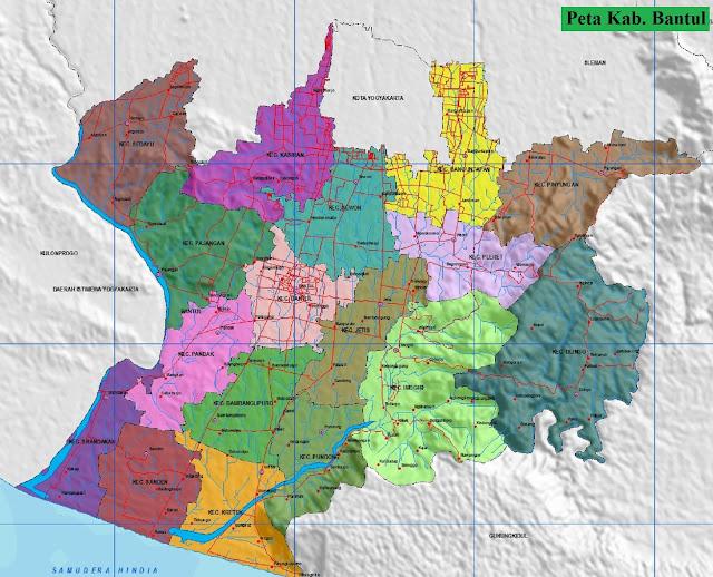 Peta Kabupaten Bantul