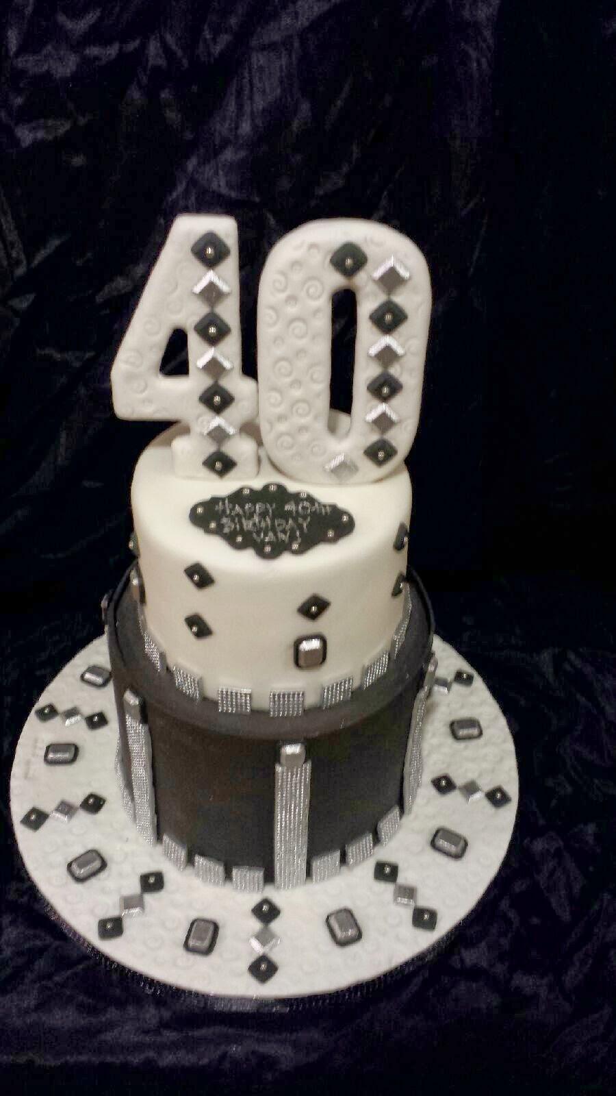 The Sin City Mad Baker Van S 40th Birthday Cake In Black