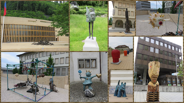 Open air sculpture exhibit in Vaduz, Liechtenstein