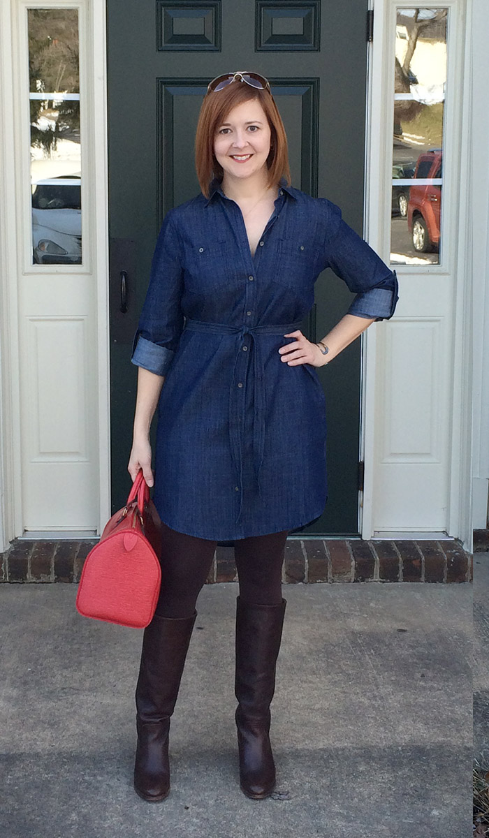 Banana Republic Chambray Dress For A While It Looked Like The Perfect Winter To Spring Transition And Could Be But S Just Not Meant