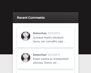 Widget comentarios recientes Blogger