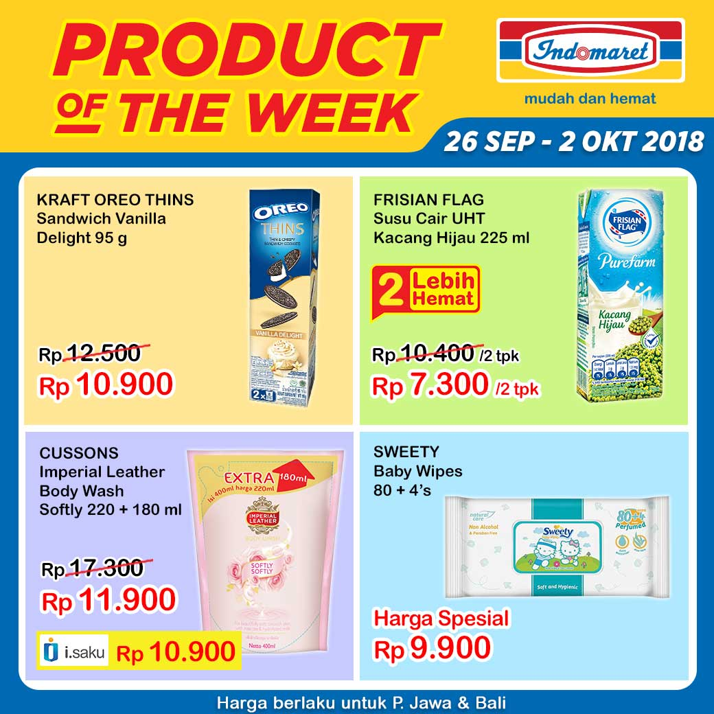 Indomaret - Promo Product of The Week Periode 26 Sept - 02 Okt 2018