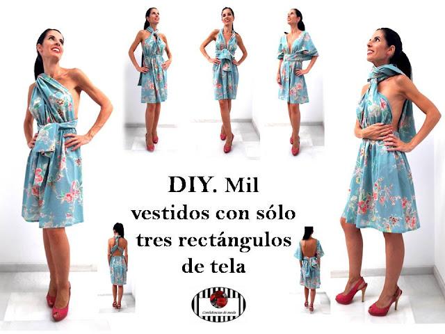 DIY. Cómo hacer 1000 vestidos con solo 3 rectángulos de tela
