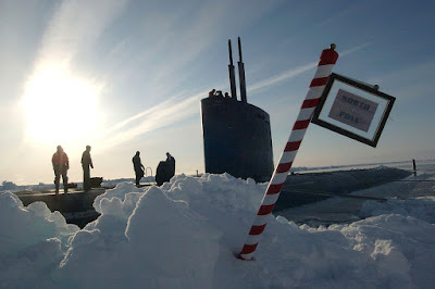 Military presence under the North Pole ice.