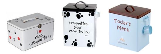 s lection de boites et pots croquettes pour chiens woof mag 39 le blog des chiens heureux. Black Bedroom Furniture Sets. Home Design Ideas