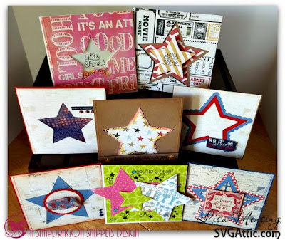 SVG Attic Festive Fourth, Star Card, The Crafting Cave