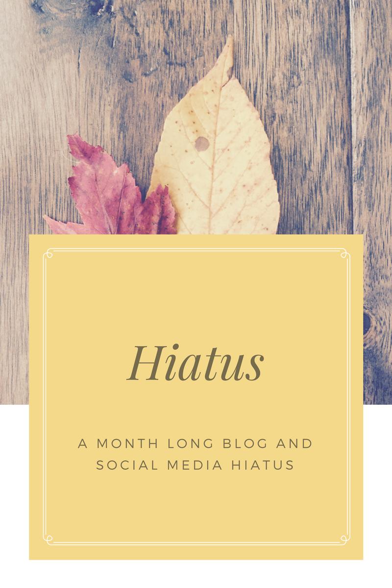 Blog Hiatus