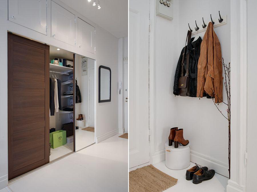 Mały apartament o powierzchni 36m² - wystrój wnętrz, wnętrza, urządzanie mieszkania, dom, home decor, dekoracje, aranżacje, styl skandynawski, scandinavian style, białe wnętrza, white home, małe wnętrza, small apartment, sypialnia, bedroom