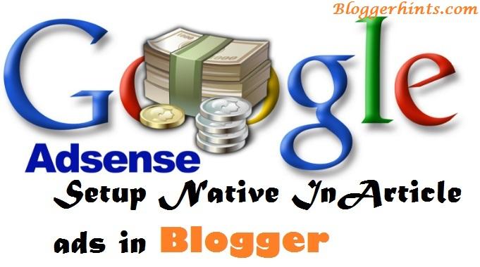 Adsense Native InArticle ads