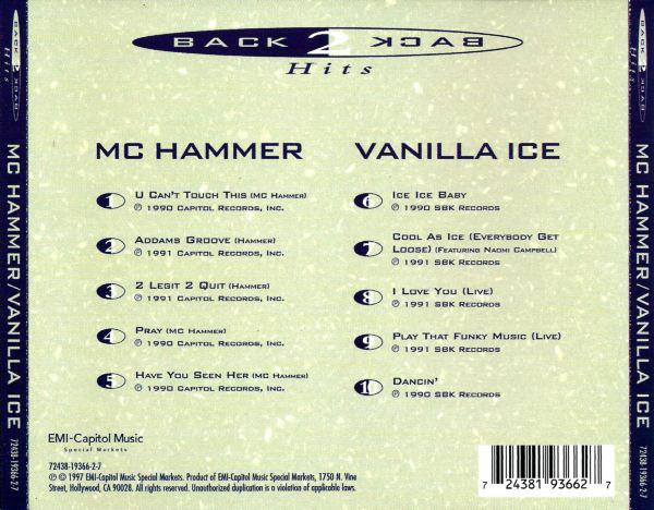 Seja Bem Vindo: MC Hammer And Vanilla Ice - Back To Back ...