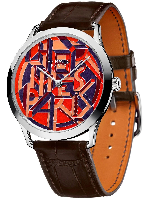 Hermès - Slim d'Hermès Perspective Cavalière automatic watch white gold case