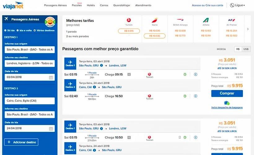 Onde e como comprar passagens aéreas baratas - Viajanet