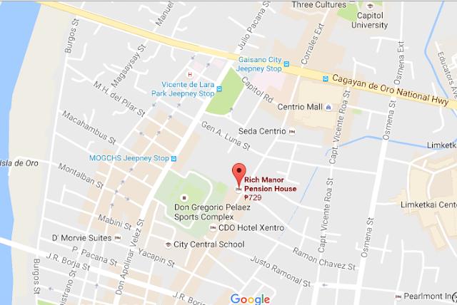 rich manor pension house cagayan de oro location