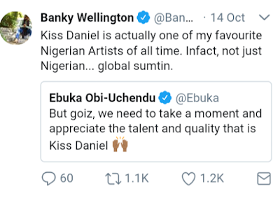 Banky W and Ebuka Obi Uchendu's Tweets