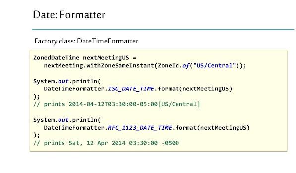 DateTimeFormatter Example in Java 8