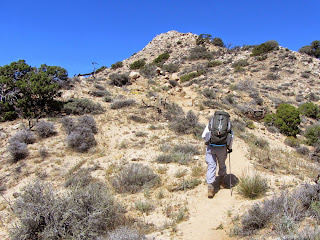 Climbing west toward Warren Point, Black Rock, Canyon, Joshua Tree National Park