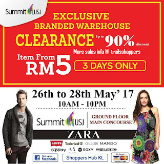 Zara, Marks & Spencer Branded Warehouse Clearance Sale 2017