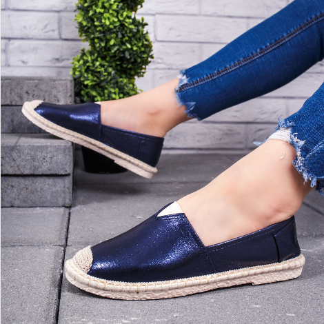 Espadrile dama albastru inchis la moda 2020 la reducere