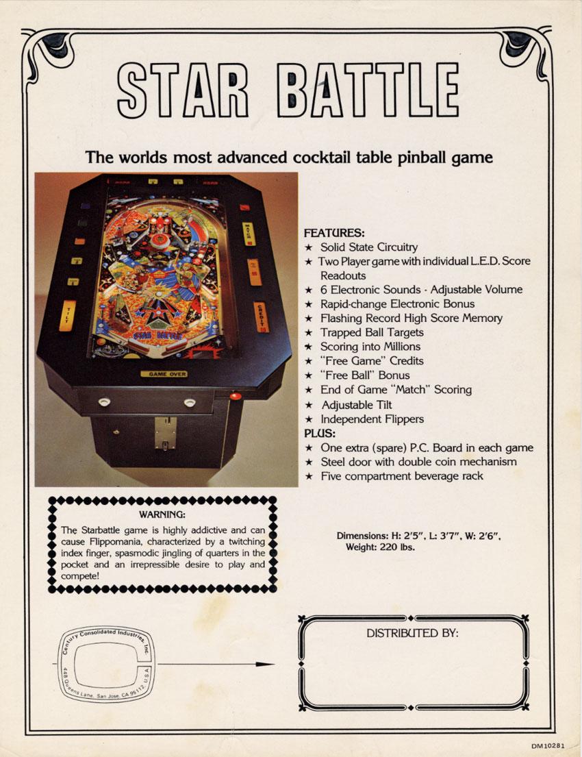 The Golden Age Arcade Historian: Centuri/Allied Leisure