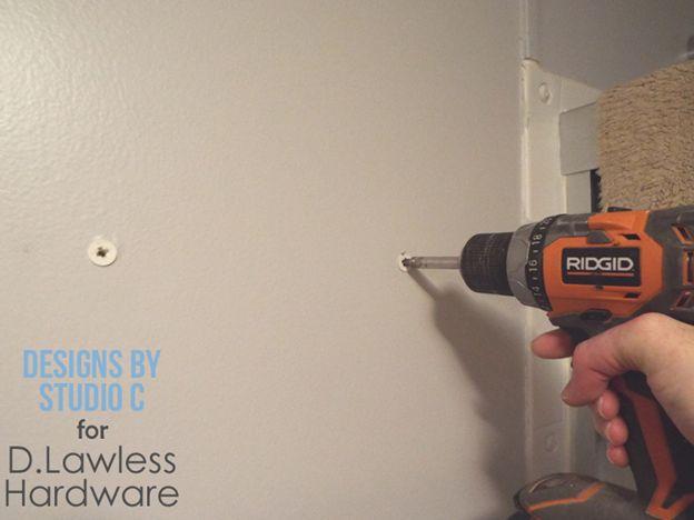 DIY Knob Hangers - drill holes
