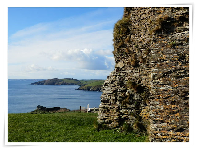 Ruins of St. Saviours church, Polruan, Cornwall
